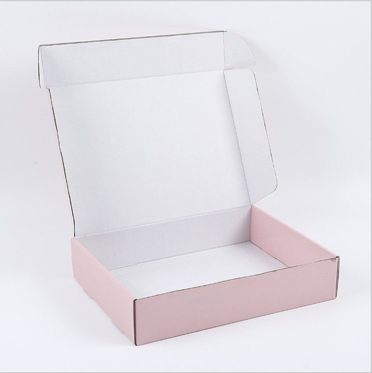 Custom Corrugated Boxes Custom corrugated box pink mailbox express delivery box rectangular packaging box